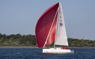J/97 sailing in Newport RI.