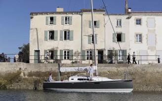 La Rochelle le 30 septembre 2014.Le nouveau J 97 E du Chantier J Composites.Photo © Jean-Marie LIOT (mention obligatoire pour toute utilisation)